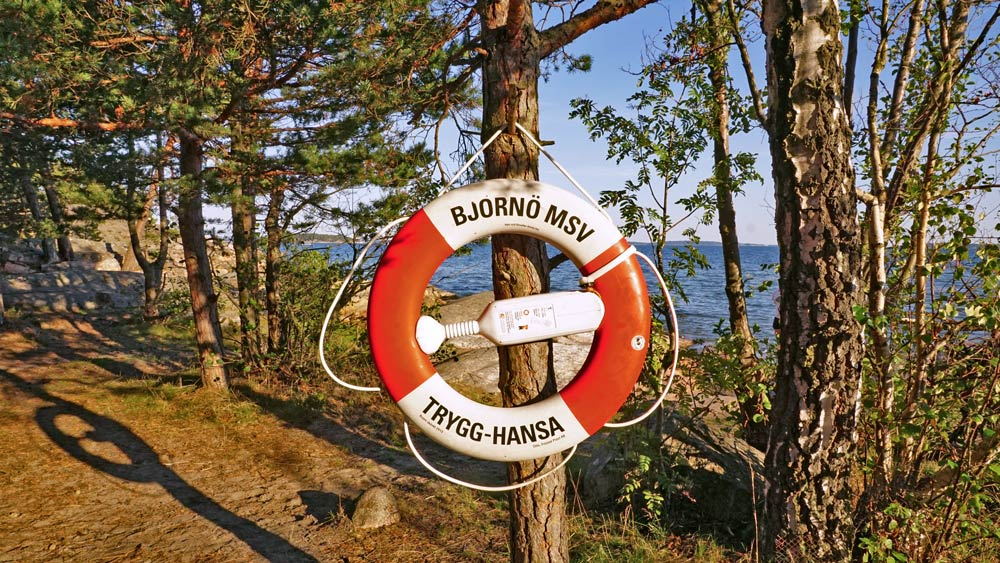 Stellplatz in der Natur in Schweden