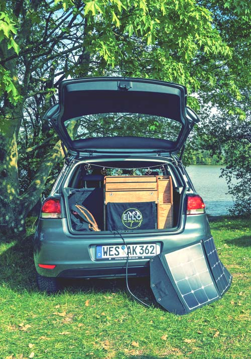 Ellobox mit Solarbetrieb - Laden der Batterie