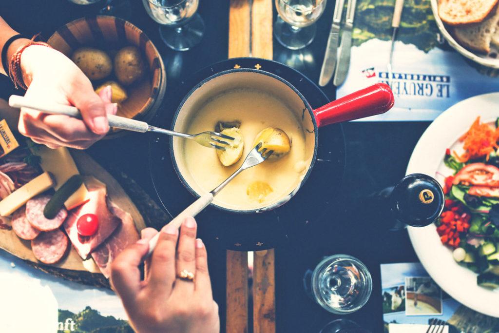 Käsefondue outdoor zubereiten