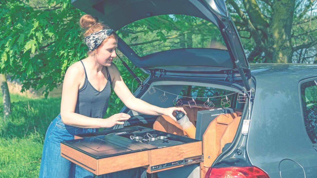 ElloBox - Campingbox für Klein- und Kompaktwagen_VW_Polo_Golf_Opel_Corsa